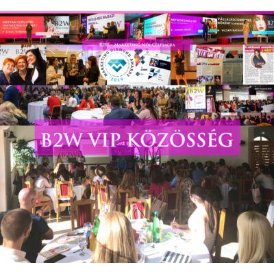 B2W 1 ÉVES Klubtagság - Belépőjegy az összes rendezvényre!